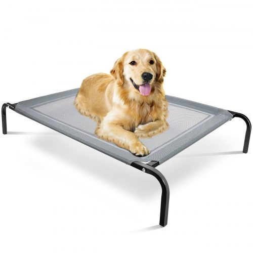 "OxGord ""Travel Gear Approved"" Steel-Framed Portable Elevated Pet Bed Cat/Dog"