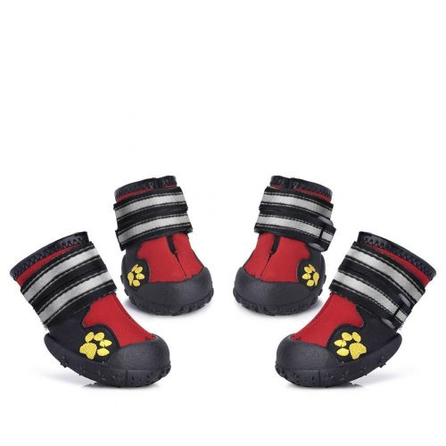 Petacc Dog Shoes Water Resistant Dog Boots Anti-slip Snow Boots Warm Paw Protector for Medium to Large Dogs Labrador Husky Shoes 4 Pcs