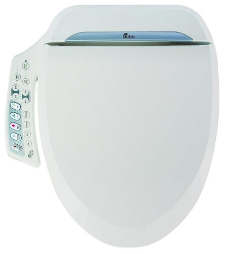 Bio Bidet Ultimate BB-600 Advanced Bidet Toilet Seat, Elongated White. Easy DIY Installation, Luxury Features from Side Panel, Adjustable Heated Seat and Water. Dual Nozzle Has Posterior and Feminine Wash