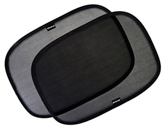"""Car Window Shade - (3 Pack ) - 21""""x14"""" Cling Sunshade For Car Windows - Sun, Glare And UV Rays Protection For Your Child - Baby Side Window Car Sun Shades By Enovoe - Car Window Sunshades"""