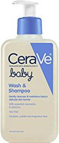 CeraVe Baby Wash and Shampoo 8 oz with Essential Ceramides and Vitamins for Gently Cleansing Baby's Skin and Hair - Baby Shampoos