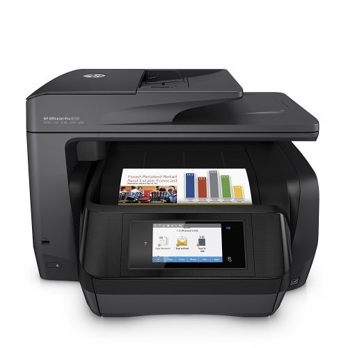HP OfficeJet Pro 8720 All-in-One Wireless Printer with Mobile Printing, Instant Ink ready - Black (M9L74A)- All in one photo printer