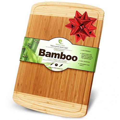Midori Way Thick Bamboo Wood Cutting Board - Bamboo Cutting Boards