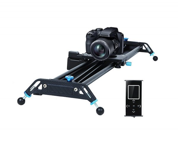 """Motorized Camera Slider Dolly Video Track with Time Lapse Duration and Auto Loop Track System and Wide Angle Shot Aviation aluminum A&J 31"""" - Camera slider"""