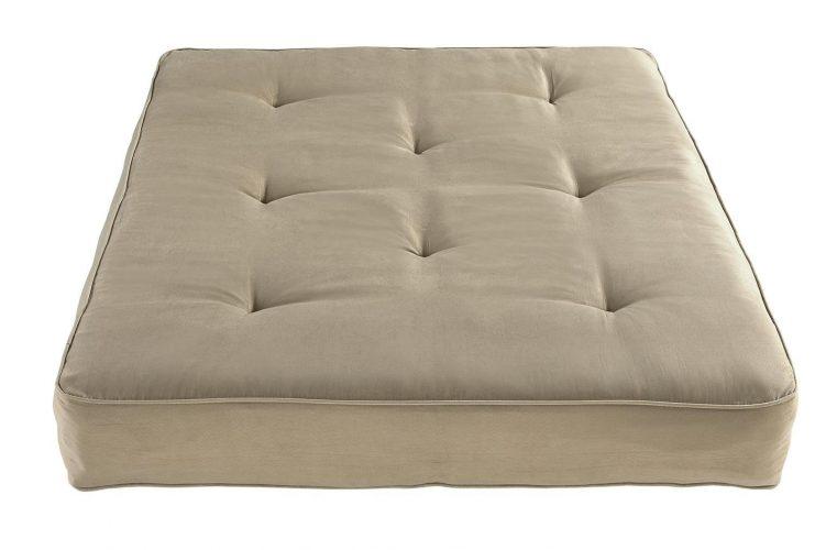 DHP 8-Inch Independently-Encased Coil Premium Futon Mattress, Full Size, Tan - Futon Mattress