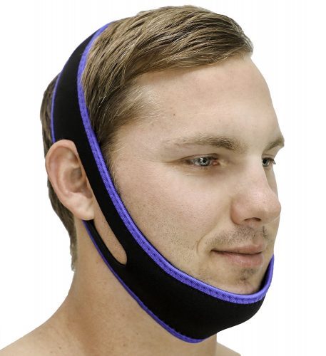 Snoring Solution - SleepEZzzz Snoring Solution - Customizable Anti Snoring Chin Strap - Snoring Aid That Works - Best Solution for Mouth Snorers - Adjustable, Comfortable and Easy to Use.- antisnoring