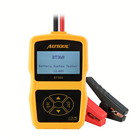 AUTOOL Upgraded 12V Automotive Battery Load Tester CCA 100-2400 Bad Cell Test for Regular Flooded, Auto Cranking and Charging System Diagnostic Analyzer for Domestic Cars, Boat