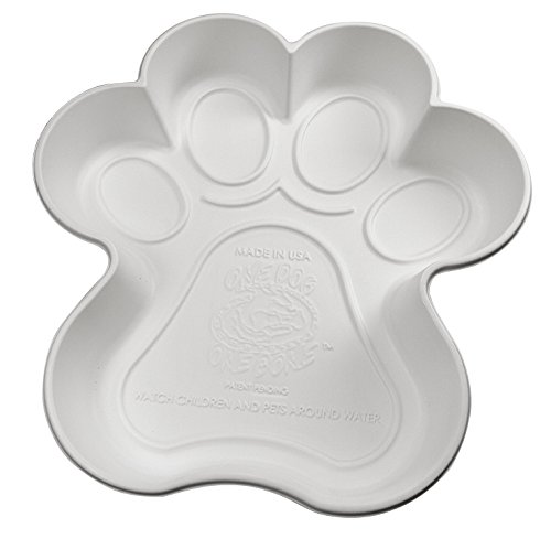 One Dog One Bone Paw Shaped Play Pool for Dogs, White - dog pools