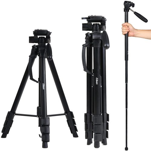 Albott 70 Inch Digital SLR Camera Aluminum Travel Portable Tripod Monopod with Carry Bag - DSLR camera tripods