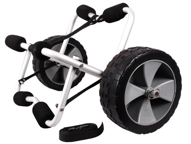 Best Choice Products SKY1251 Boat Kayak Canoe Carrier Dolly Trailer Tote Trolley Transport Cart Wheel - canoe and kayak carts