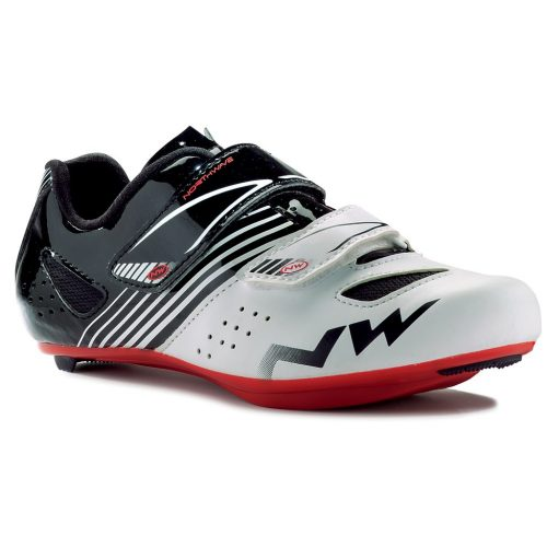 Northwave White-Black-Red 2019 Torpedo Kids Cycling Shoe - Cycling Shoes for Kids