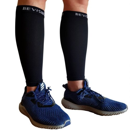 BeVisible Sports Calf Compression Sleeve [1 pair] - Compression Leg Sleeves