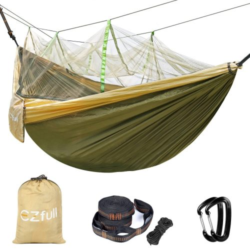 Double Camping Hammock With Mosquito Net EZfull - Hammocks With Mosquito Net