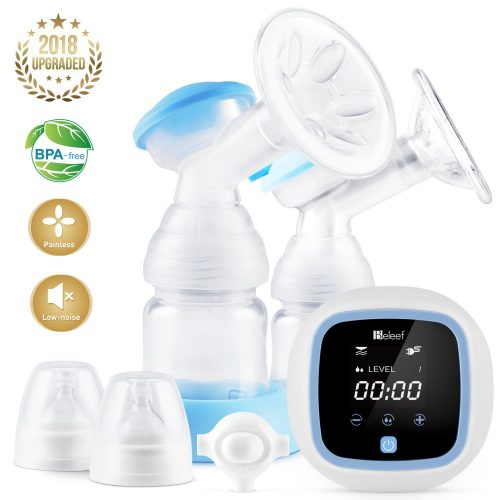 Electric Breast Pump, Double/Single Milk Pump for Moms Massage Breast and Suck Milk