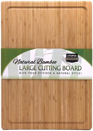 Extra Large Bamboo Cutting Board (17 by 12 inch) - Utopia Kitchen - Wooden Cutting Boards