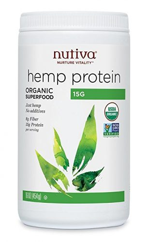 Nutiva Organic Hemp Protein – 16 oz. Sustainably Grown Canadian Hempseed, –Cold-Processed Seed from Non-GMO (50% Protein). Organic Hemp Protein - Organic Protein Powders