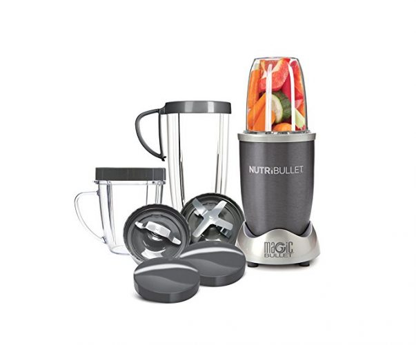 NutriBullet 12-Piece High-Speed Blender/Mixer System, Gray - Smoothie Blenders