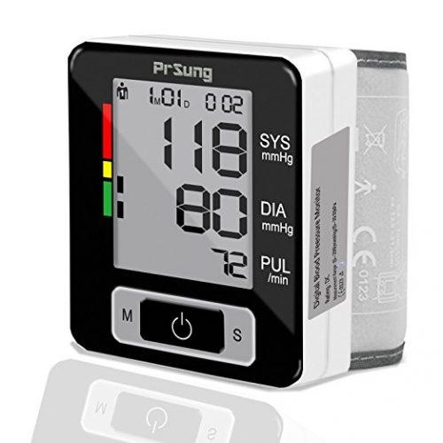 PrSung Wrist Blood Pressure Monitor - FDA Approved - Digital Automatic Blood Pressure Monitors with Case