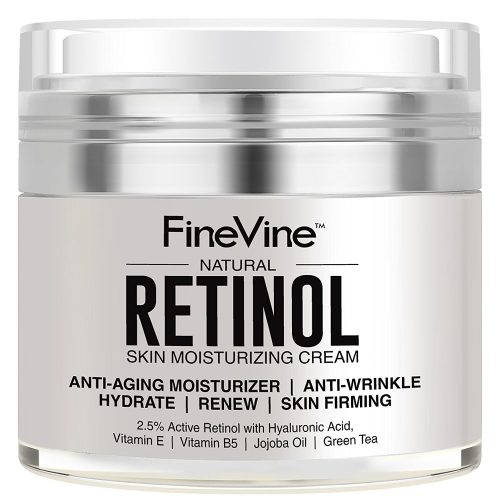 Retinol Moisturizer Cream for Face and Eye Area - Made in the USA - with Hyaluronic Acid, Vitamin E - Best Day and Night Anti Aging Formula to Reduce Wrinkles, Fine Lines & Even Skin Tone
