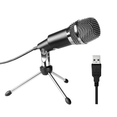 Fifine USB Microphone, Plug &Play Home Studio USB Condenser Microphone