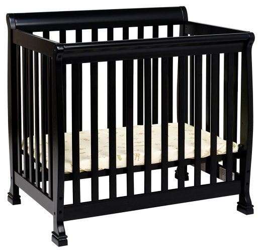 DaVinci Kalani 2-in-1 Mini Crib and Twin Bed In Ebony Finish