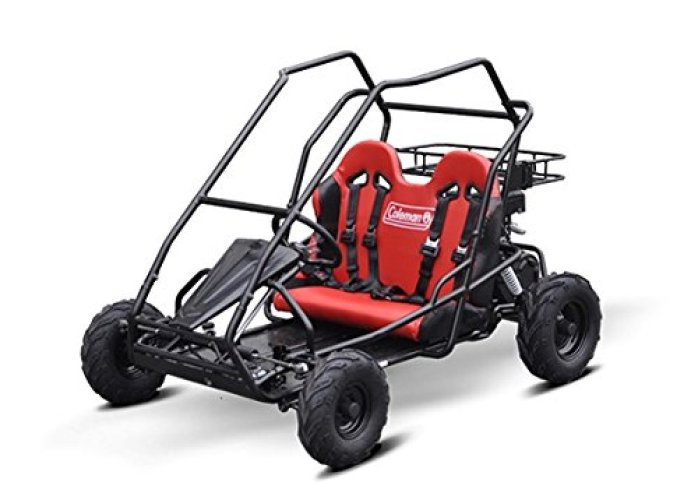 Coleman Powersports 196cc/6.5HP KT196 Gas-Powered Off-Road Go Kart - Off Road Go Karts