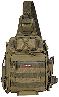 BLISSWILL Outdoor Multifunctional Tackle Bag Water-Resistant Fishing Tackle Bag Sports Shoulder Bag Crossbody Messenger Bag for Fishing Hiking Climbing Cycling Hunting - Fishing Backpacks & Bags