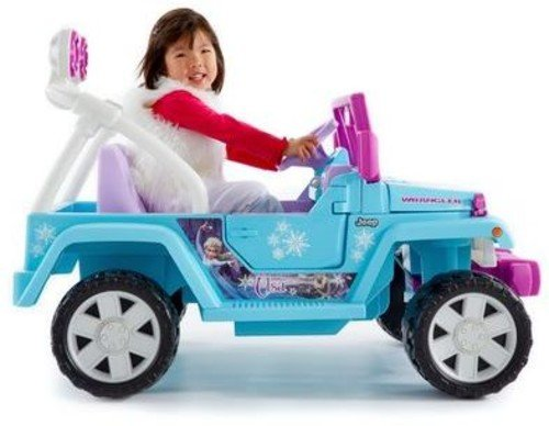 Power Wheels Disney Frozen Jeep Wrangler - Electric Cars For Kids