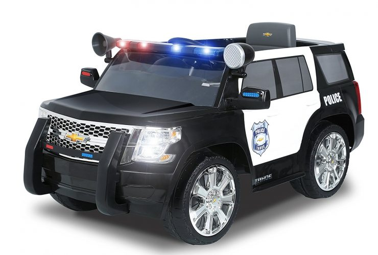 Rollplay Chevy Tahoe 6-Volt Battery-Powered Ride-On, Police - Electric Cars For Kids