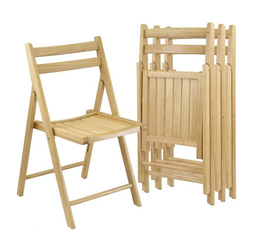 Winsome Wood Folding Chairs, Natural Finish, Set of 4 - Wooden Folding Chairs