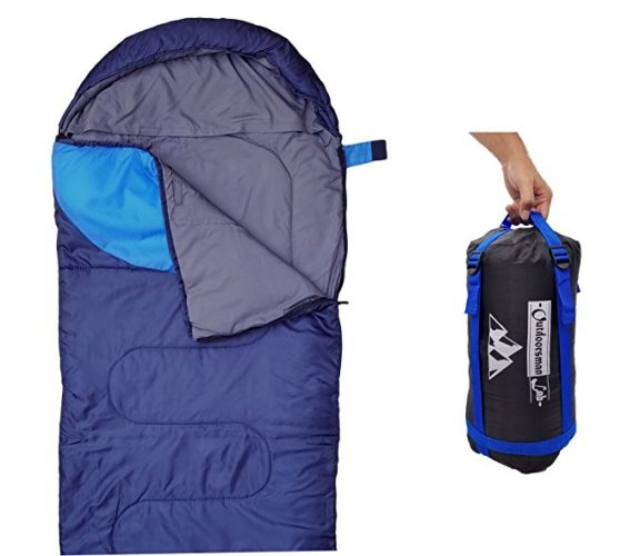 """""""Sleeping Bag (47F/38F) Lightweight For Camping, Backpacking, Travel by OutdoorsmanLab- Kids Men Women 3-4 Season Ultralight Compact Packable bags with Compression Sack"""" - Sleeping Bags"""
