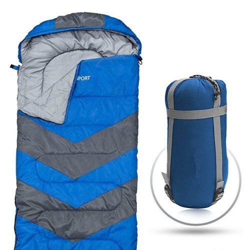 """""""Sleeping Bag – Envelope Lightweight Portable, Waterproof, Comfort With Compression Sack - Great For 4 Season Traveling, Camping, Hiking, Outdoor Activities & Boys. (SINGLE) By Abco Tech"""" - Sleeping Bags"""
