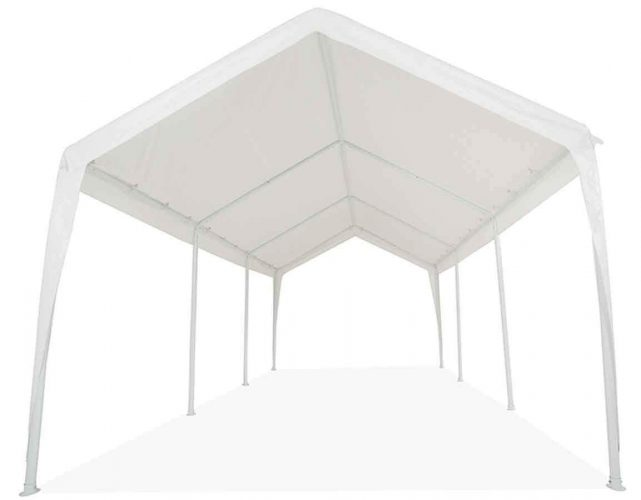 Impact Canopy 11x20 Garage Canopy Tent Impact Canopies Portable 8 Leg Outdoor Carport Sun and Rain Shelter, White