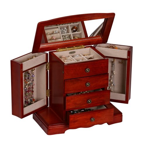 Mele & Co. Harmony Wooden Musical Jewelry Box