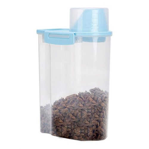 PISSION Pet Food Storage Container with Graduated Cup and Seal Buckles Food Dispenser for Dogs Cats - Dog Food Containers
