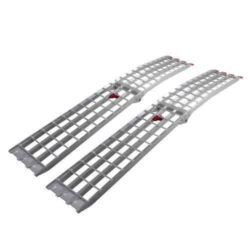 7.5' HD 4-Beam Loading Ramps 1500 lb Heavy Duty Aluminum Arched for ATV UTV Motorcycle Ramp (Pack of 2) - ATV ramps
