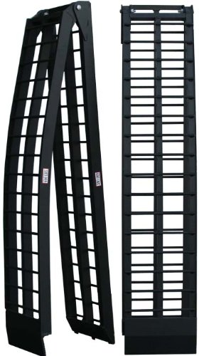 Titan Pair of 10' Long Folding Aluminum Arch ATV Ramps - ATV ramps