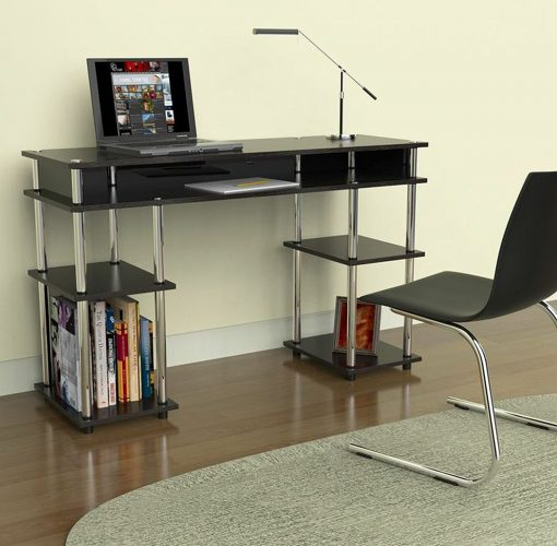 Convenience Concepts Modern No Tools Student Desk, Black - Study Tables