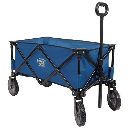 Timber Ridge Folding Camping Wagon, Garden Cart, Collapsible, Blue