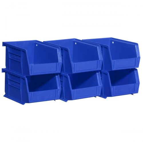 Akro-Mils 08212Blue 30210 Plastic Storage Stacking AkroBins for Craft and Hardware (6 Pack), Blue - Plastic Storage Bins