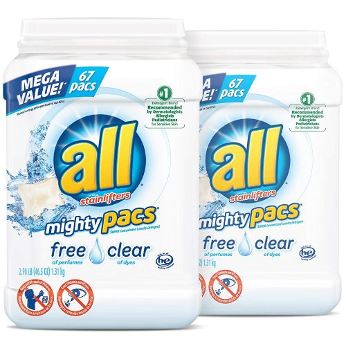 All Might Pacs Laundry Detergent [134 Total Loads]