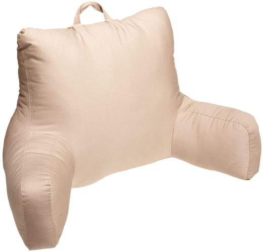 Brentwood Brushed Twill Bedrest, Khaki - reading pillows