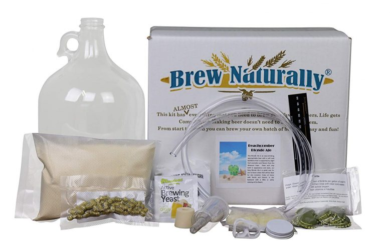 Brew Naturally Beachcomber Blonde Ale One Gallon Homebrew Starter Kit