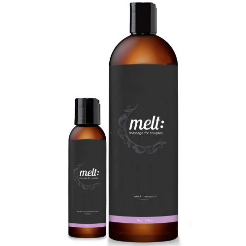 Melt 16oz Sensual Massage Oil Relaxing, Therapeutic Sweet Almond Oil Moisturizing Skin Therapy | Make Your Partner Melt
