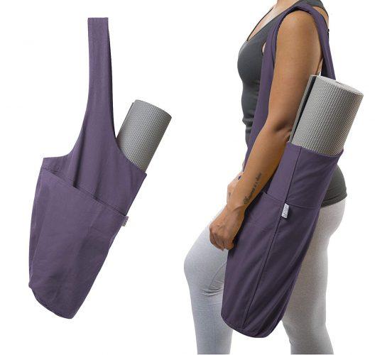Yogiii Yoga Mat Bag | The ORIGINAL YogiiiTote | Yoga Mat Tote Sling Carrier with Large Side Pocket & Zipper Pocket