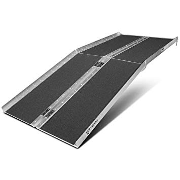 """Titan Ramps 6' ft Aluminum Multifold Wheelchair Scooter Mobility Ramp portable 72"""" (MF6)"""