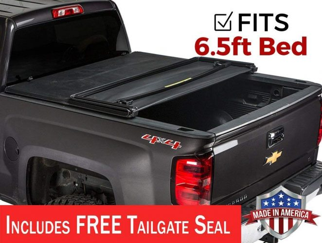Gator Tri-Fold Tonneau Truck Bed Cover 2014-2019 Chevy Silverado GMC Sierra 6.5 FT Bed - Truck Bed Covers