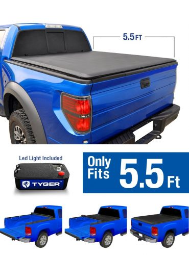 Tyger Auto TG-BC1F9029 TOPRO Roll Up Truck Bed Tonneau Cover 2015-2019 Ford F-150 | Styleside 5.5' Bed - Truck Bed Covers