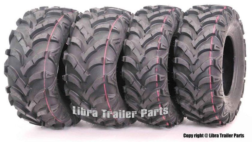 Wanda P341 Set of 4 ATV/UTV Tires 25 x 8-12 Front and 25 x 10-12 Rear