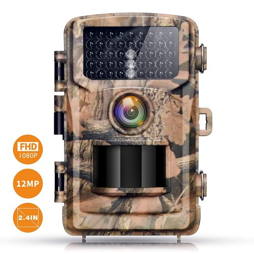 """Campark Trail Camera 12MP 1080P 2.4"""" LCD Game Camera Motion Activated Wildlife Hunting Cam IR LEDs Night Vision up to 75ft/23m IP56 Waterproof (New Version)"""